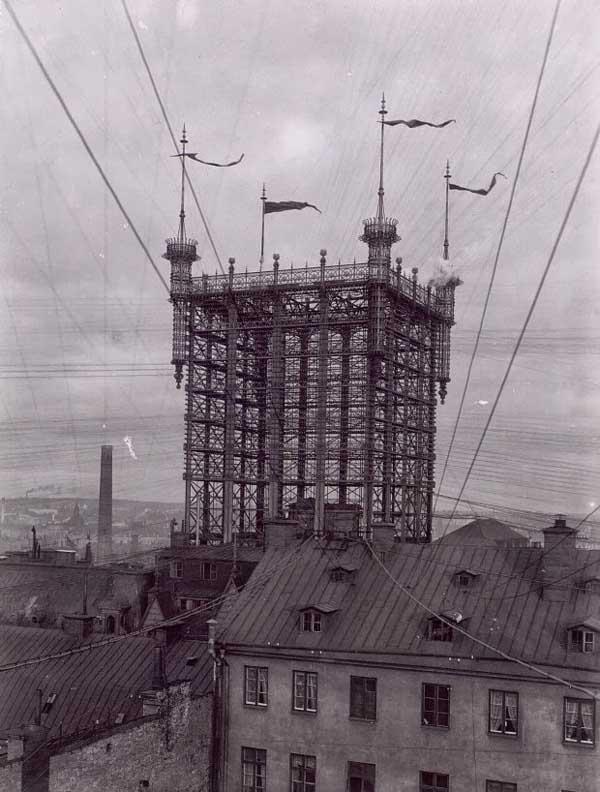 Torre de teléfonos en Estocolmo 1890 (3)