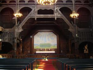 interior de la Iglesia de Kiruna