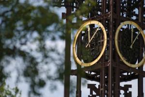 la torre de reloj de Kiruna