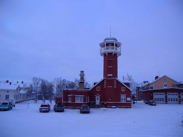 Antigua estación de bomberos en Suecia