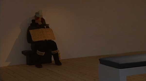 Uno de los mendigos de la exposición