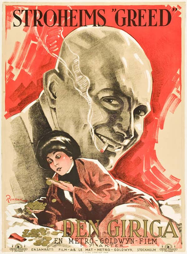 Greed, 1924 (artist: Eric Rohman).