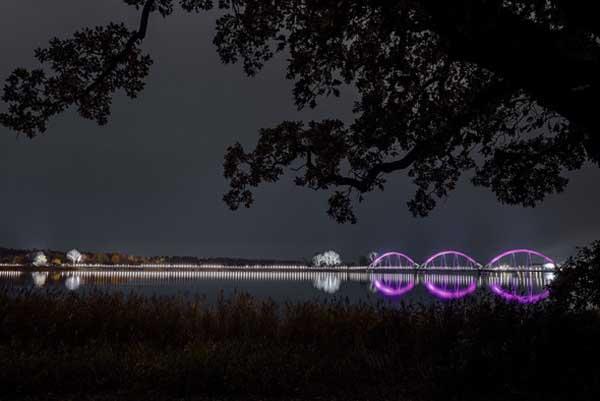 El puente de Sölvesborg en suecia