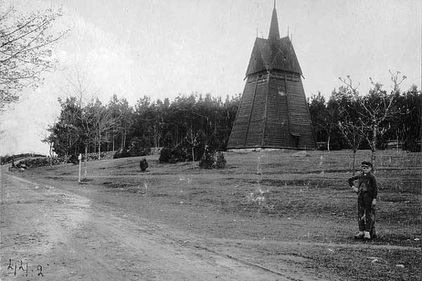 Igleisa Bell Tower of Hjortsberga, Suecia