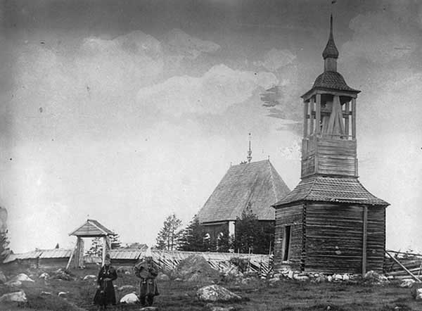 Vieja iglesia de Jokkmokk, Suecia