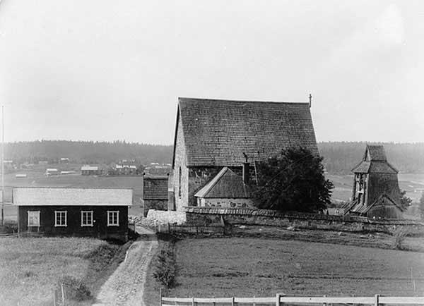Vieja iglesia de Trönö, Suecia