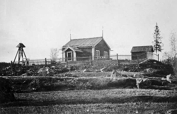 Antigua capilla de Kvikkjokk, Suecia