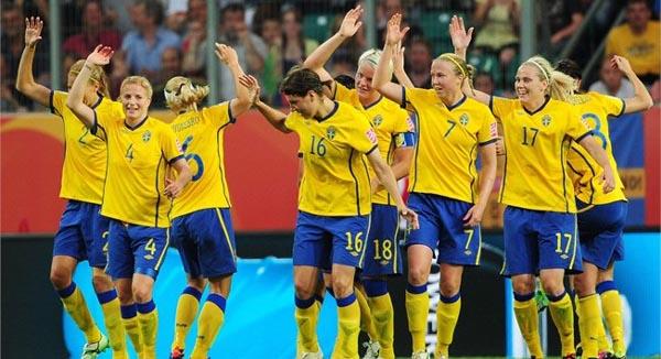 equipo sueco de futbol femenino