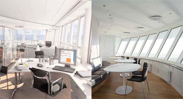 Fotos del interior de las oficinas del turning torso