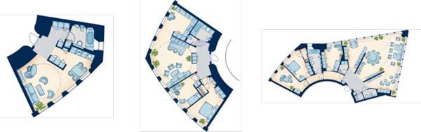 planos de apartamentos turning torso