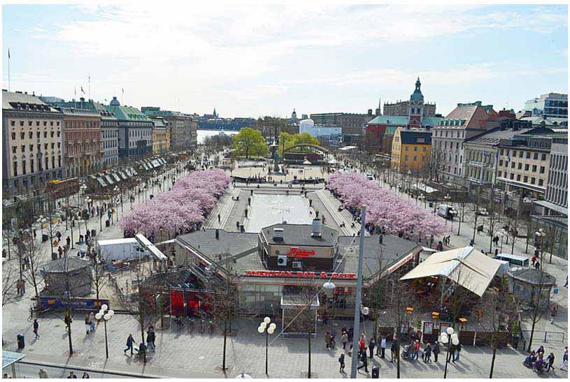 Primavera en el Parque Kungsträdgården